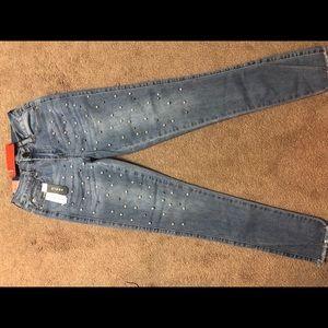 Denim - Studded jeans